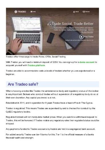 Tradeo » What Do Customers Think Of This Company?
